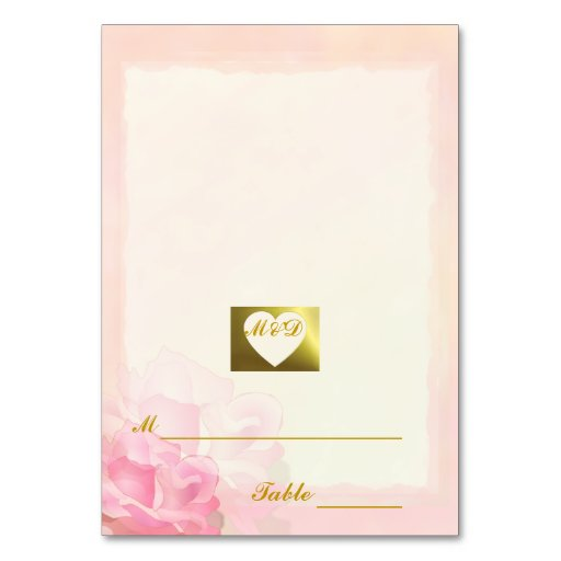 Wedding Place Cards   Pink Edge Collection Table Cards
