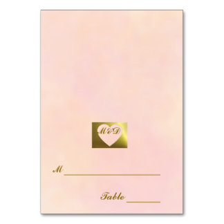 Wedding Place Cards | Vintage Pale Pink Set Table Cards