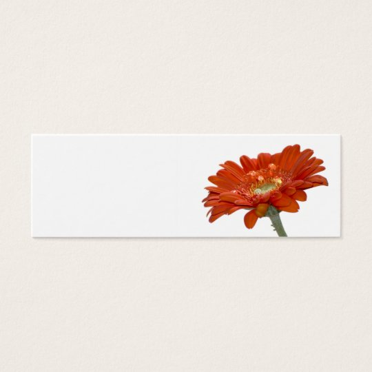Wedding Place Name Card - Orange Daisy Gerbera