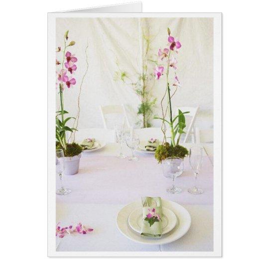Wedding place setting card