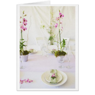Wedding place setting greeting card
