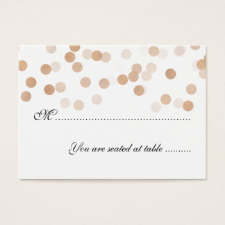 Wedding Placecards Copper Foil Glitter Lights Business Card