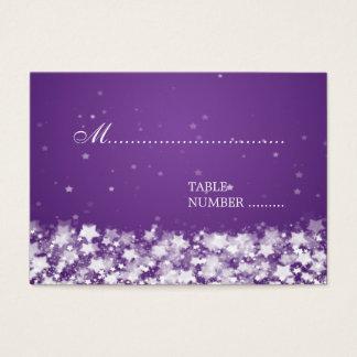 Wedding Placecards Dazzling Stars Purple Business Card