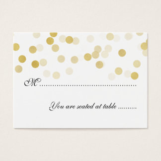 Wedding Placecards Faux Gold Foil Glitter Lights Business Card