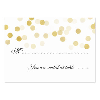 Wedding Placecards Faux Gold Foil Glitter Lights Pack Of Chubby Business Cards