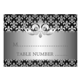 Wedding Placecards Fleur De Lis Black Business Cards