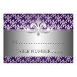 Wedding Placecards Fleur De Lis Purple Business Card Template
