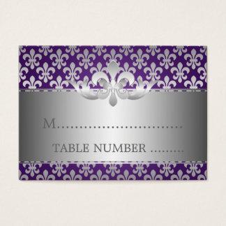 Wedding Placecards Fleur De Lis Purple Business Card