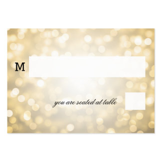 Wedding Placecards Gold Glitter Lights Business Cards