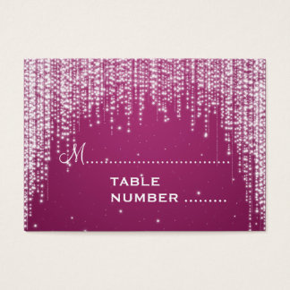 Wedding Placecards Night Dazzle Berry Pink Business Card