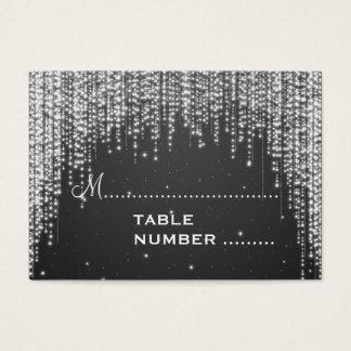 Wedding Placecards Night Dazzle Black Business Card
