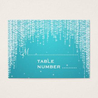 Wedding Placecards Night Dazzle Blue