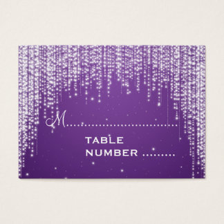 Wedding Placecards Night Dazzle Purple Business Card