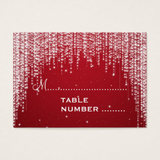 Wedding Placecards Night Dazzle Red Business Card