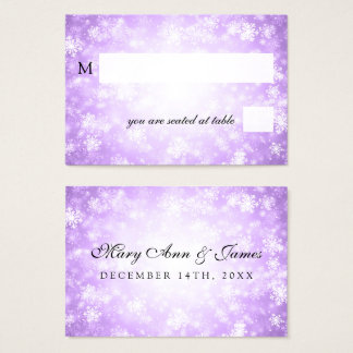 Wedding Placecards Purple Winter Wonderland Business Card