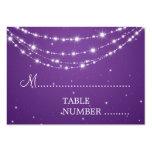 Wedding Placecards Sparkling Chain Purple