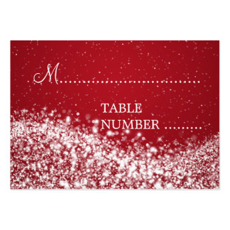 Wedding Placecards Sparkling Wave Red Pack Of Chubby Business Cards