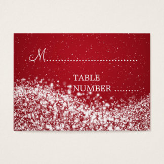 Wedding Placecards Sparkling Wave Red Business Card