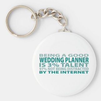 Wedding Planner 3% Talent Basic Round Button Key Ring