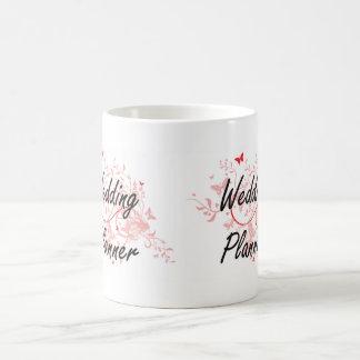 Wedding Planner Artistic Job Design with Butterfli Basic White Mug