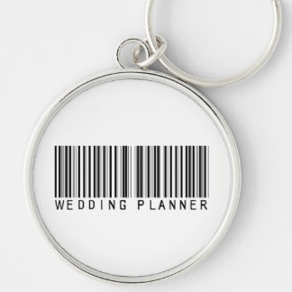 Wedding Planner Bar Code Silver-Colored Round Key Ring