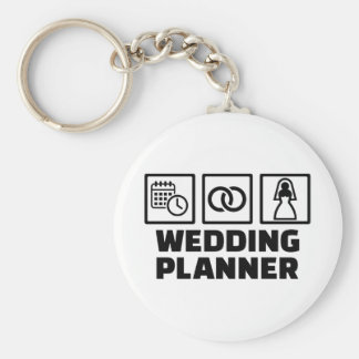 Wedding planner basic round button key ring