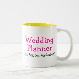 Wedding Planner Boss Two-Tone Coffee Mug