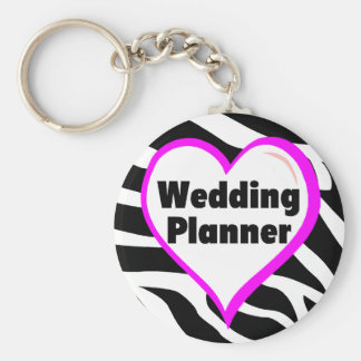Wedding Planner (Bride Zebra Stripes) Basic Round Button Key Ring