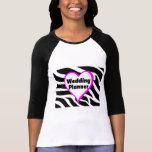 Wedding Planner (Bride Zebra Stripes) Tee Shirt