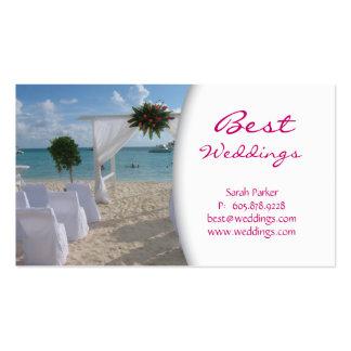 Wedding Planner Business Card Beach