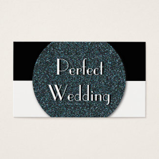 Wedding Planner Business Card Blue Glitter