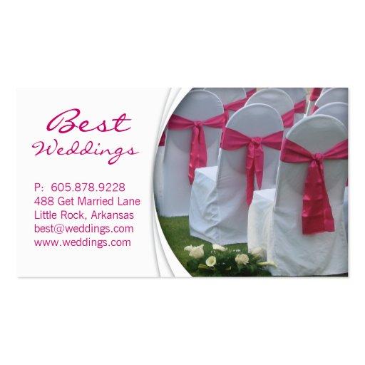 Wedding Planner Business Card Pink