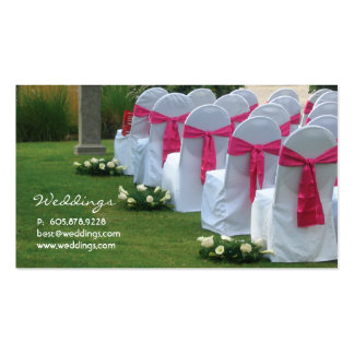 Wedding Planner Business Card Pink 2
