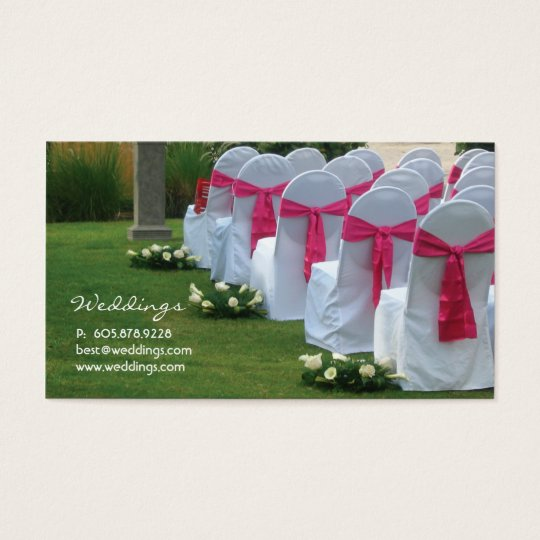 Wedding Planner Business Card Pink 2