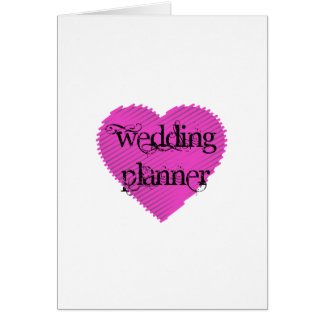 Wedding Planner Card