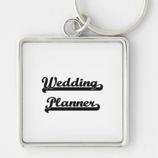 Wedding Planner Classic Job Design Silver-Colored Square Key Ring