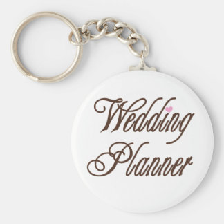 Wedding Planner Classy Browns Basic Round Button Key Ring