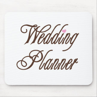 Wedding Planner Classy Browns Mouse Pads