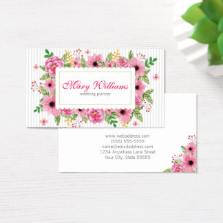Wedding Planner Floral Business Card