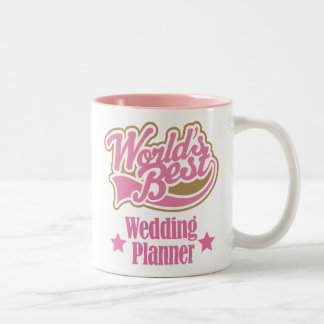 Wedding Planner Gift (Worlds Best) Two-Tone Coffee Mug