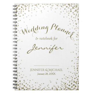 Wedding Planner Gold Confetti Notebook
