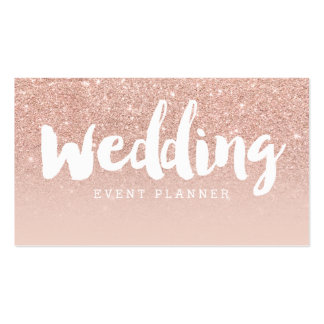Wedding planner modern typography blush rose gold pack of standard business cards