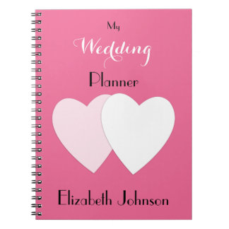 Wedding planner Notebook /  hot pink