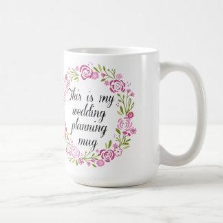 wedding planning coffee mug