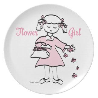 Wedding Plates - Flower Girl
