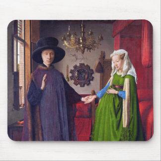 Wedding Portrait by Jan Van Eyck Mousepad