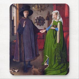 Wedding Portrait by Jan Van Eyck Mouse Pad