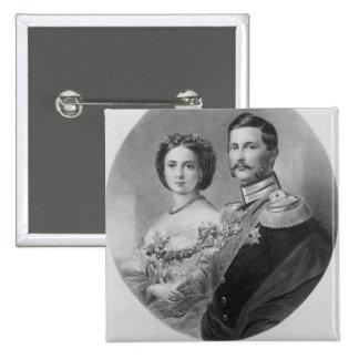 Wedding Portrait of Their Royal Highnesses 15 Cm Square Badge