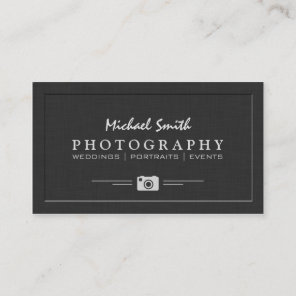 Wedding Portrait Photography Elegant Embossed Look Business Card