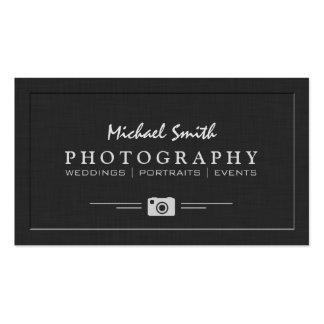 Wedding Portrait Photography Elegant Embossed Look Pack Of Standard Business Cards